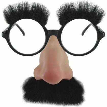groucho marx glasses mask costume with nose and moustache