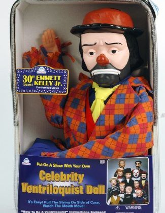 Emmett Kelly Jr ventriloquist dummy