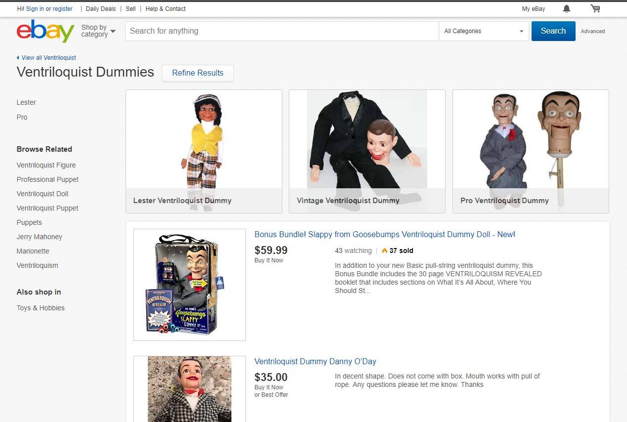 used ventriloquist dummies for sale on ebay